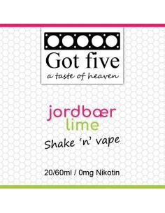 Got five - Jordbær - Lime (20 + 40ml)