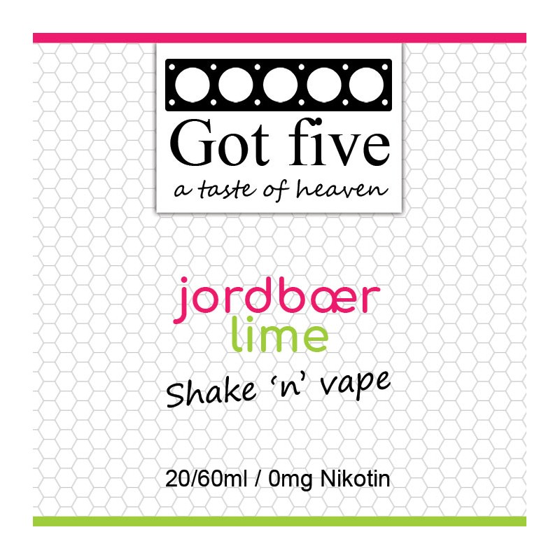 Got five - Jordbær - Lime (20 + 40ml)