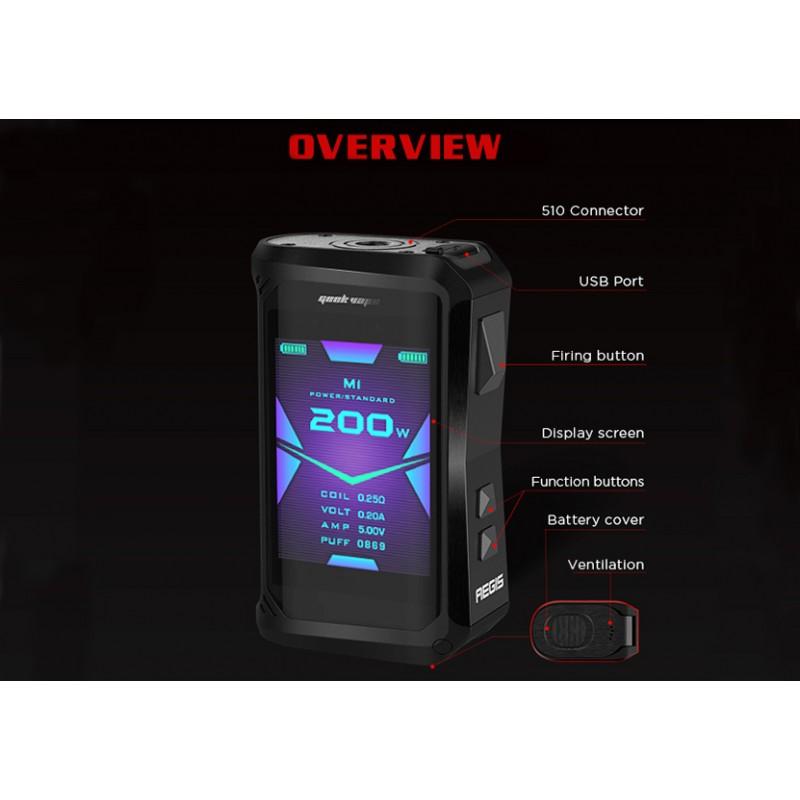 Geekvape Aegis X 200 Watt Mod